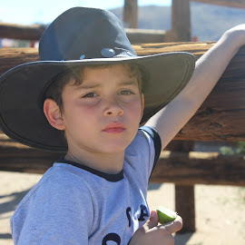 Boy in a cowboy hat by Lauren Camargo - Babies & Children Child Portraits (  )