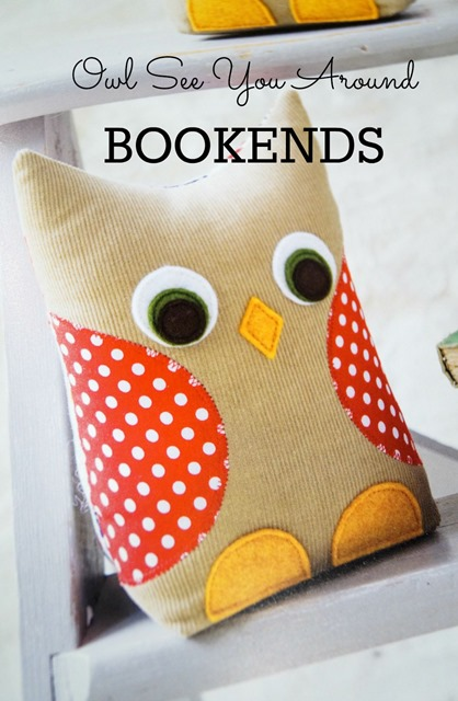 Scrap Happy Sewing - Owl Book Ends