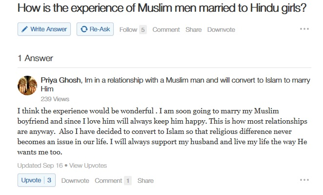 hindu girl to marry muslim