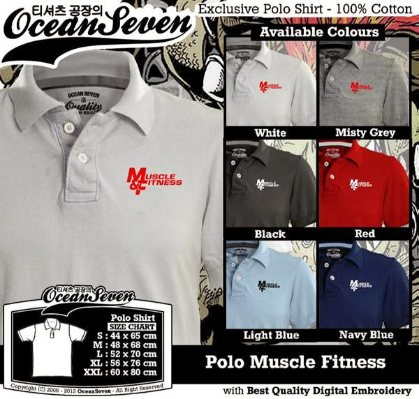 POLO Muscle Fitness Logo distro ocean seven