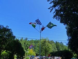 Greek Flag, Butchart Gardens