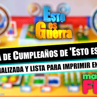 Tarjeta Cumpleaños de 'Esto es Guerra' para imprimir, Invitaciones personalizables