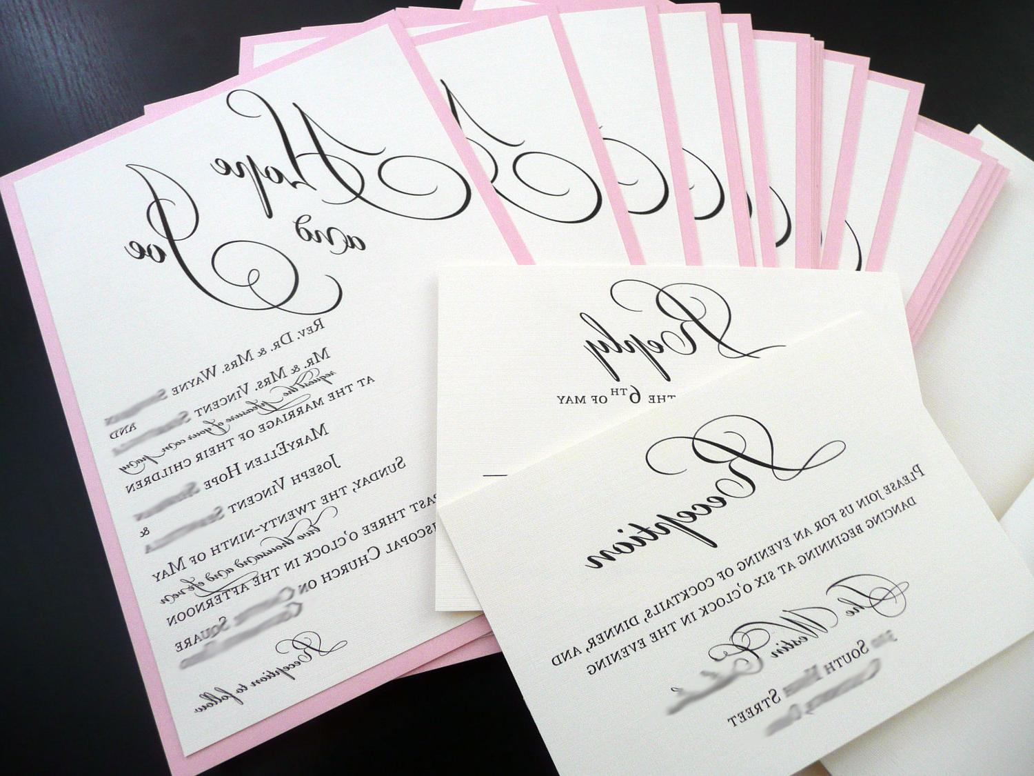 Pink Wedding Invitation - Hope Layered Sample. From PinkOrchidInvites
