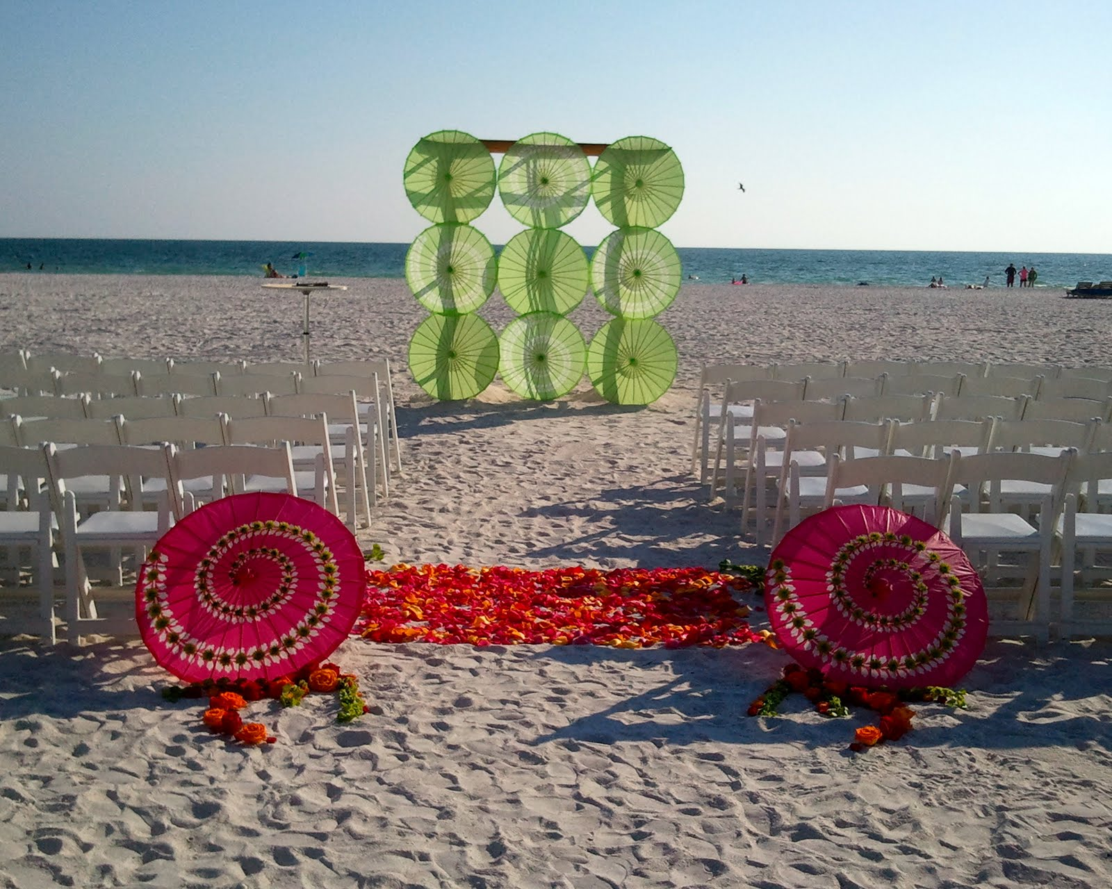 Beach Theme Wedding Table Decorations