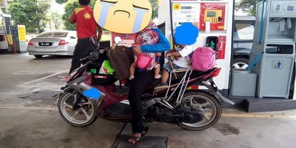 wanita naik motosikal dari penang ke kajang.jpg