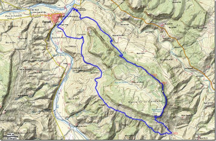 Mapa Garumba