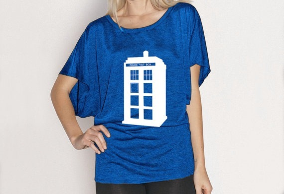 Doctor Who TARDIS Flowy Shirt from Andoid Sheep