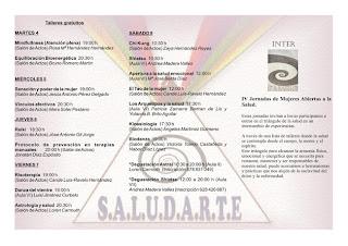 PROGRAMA DE CHARLAS Y TALLERES