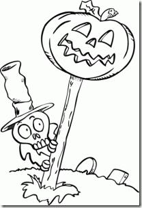 Halloween esqueleto cementero