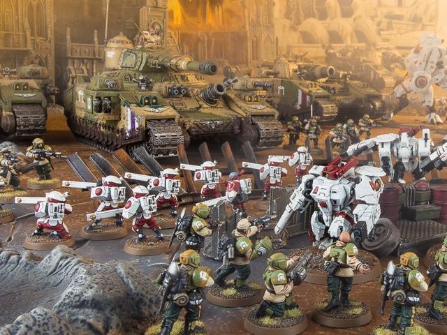 En la campaña Mont'ka se ven Baneblades y sus variantes en las formaciones de tanques de Cadia
