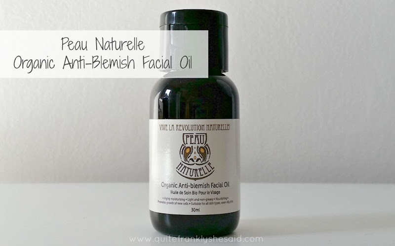 peau naturelle oil review