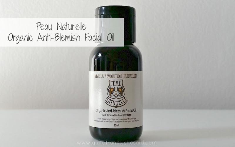 peau naturelle oil review