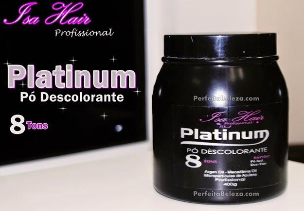 pó descolorante platinum isa hair, resenho pó descolorante