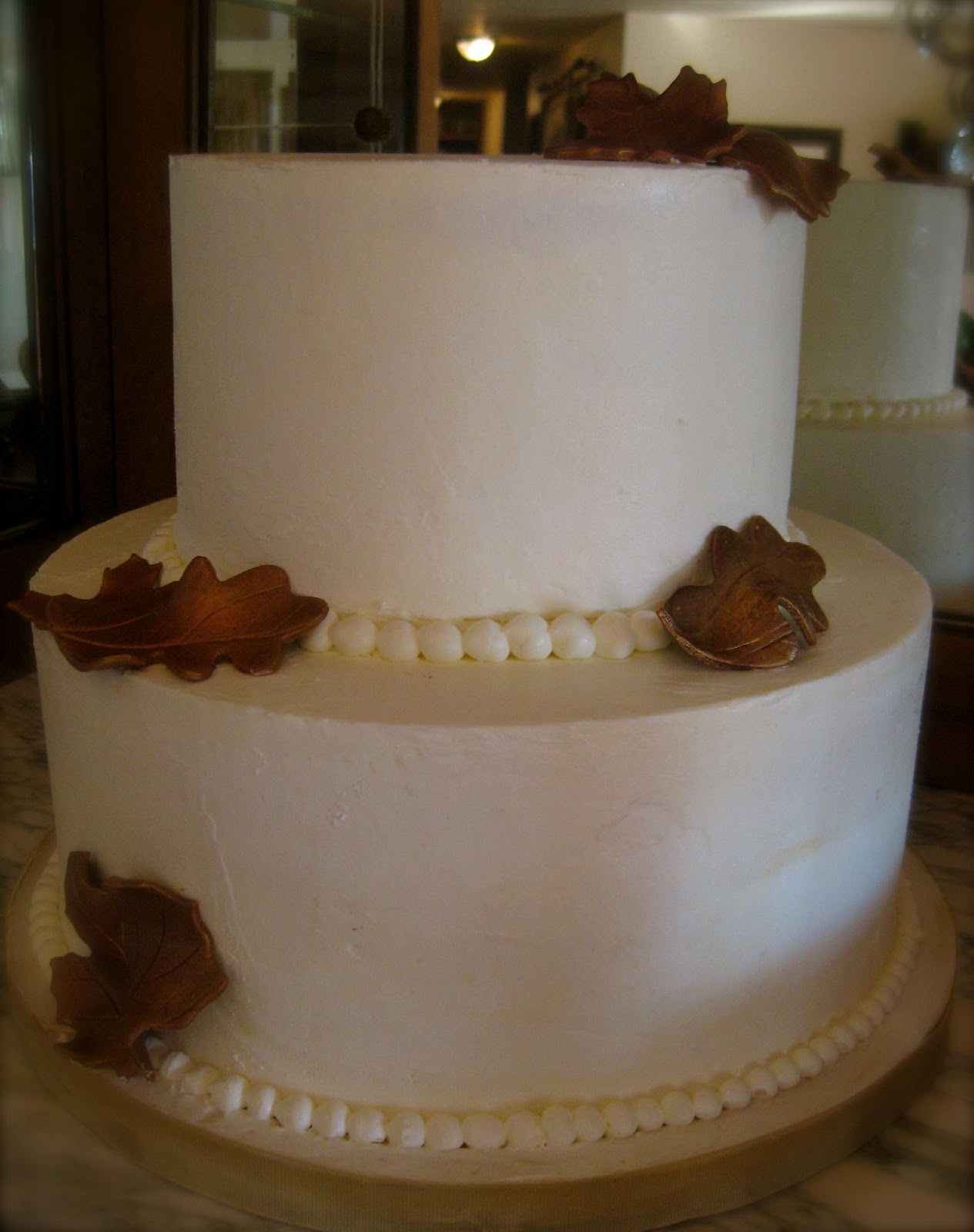 Simple wedding cake for a