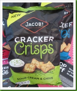 Jacobs Cracker Crisps Sour Cream and Chive