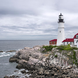 Portland Lighthouse by Debora Garella - Buildings & Architecture Other Exteriors ( portland, maine, portland lighthouse, lighthouse )