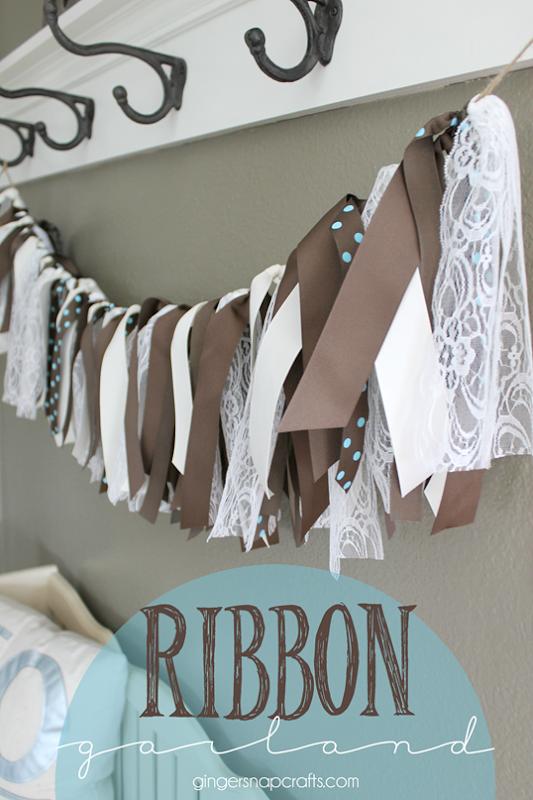 ribbon garland at GingerSnapCrafts.com