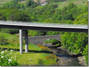 Old Dunbeath bridge in background