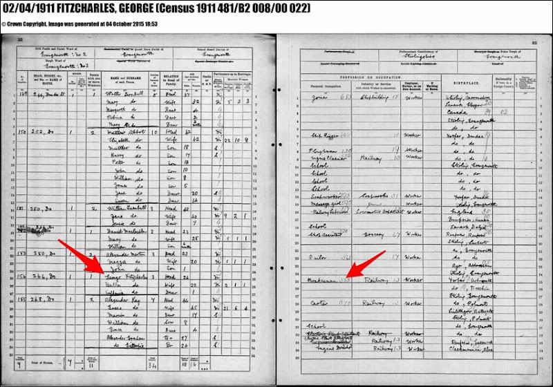 1911_Scotland_FITZCHARLES_George & wife Bella w-daughter_Grangemouth_Scotland_enh