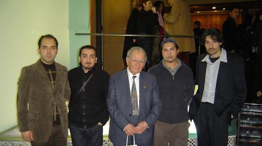 Konser Liederhalle 2009, Soldan saga: Kemal Melikoglu (Neyzen), Ben, Hocam Sitki Emeklican, Levent Yataganbaba (Udi, Tamburi), Burhan Baykal (Neyzen)