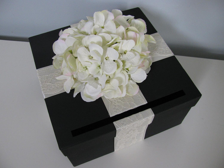 TaiQuicas blog Black Wedding Card Box with Ivory Lace satin – Modern Wedding Card Box