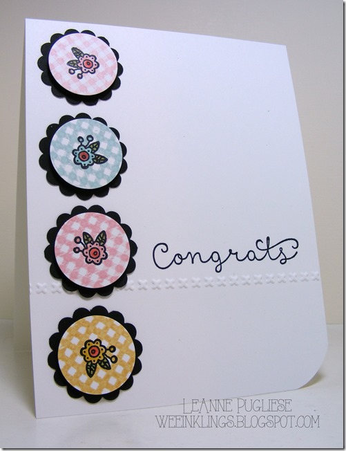 LeAnne Pugliese WeeInklings Congrats Cottage Greetings Stampin Up
