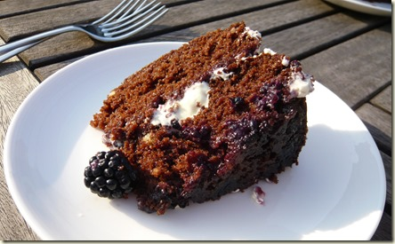 chocolate and blackberry upside down cake5