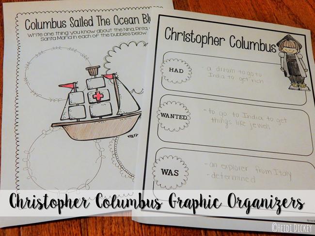 Columbus Graphic Organizers