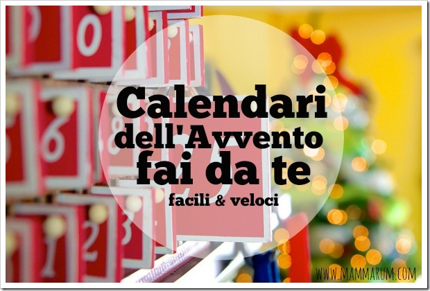 calendari avvento fai da te facili