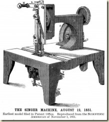 Singer Sewing Machine 1851