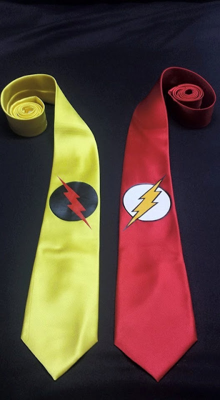 The Reverse Flash Men's Necktie from Pandoras Productions
