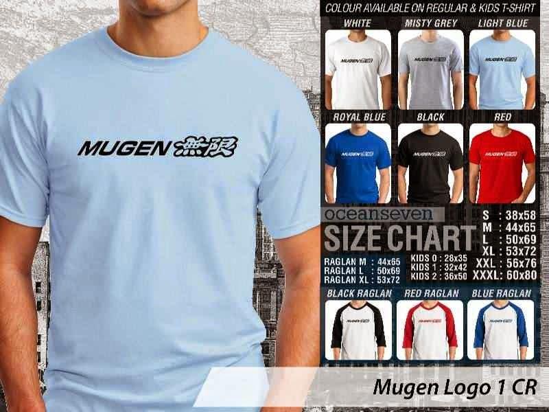 KAOS Mugen Logo Otomotif distro ocean seven