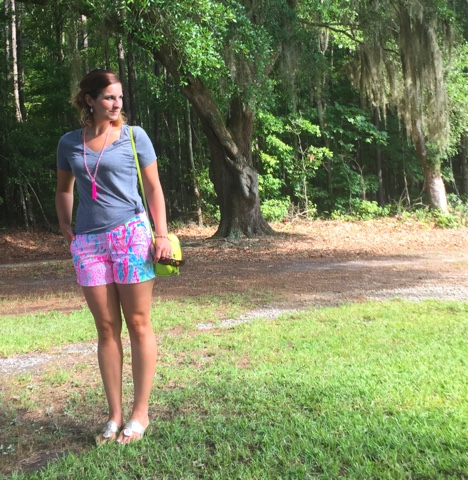lilly pulitzer, fashion, style, callahan shorts, preppy, i love jewelry, outfit, what i wore, ootd,