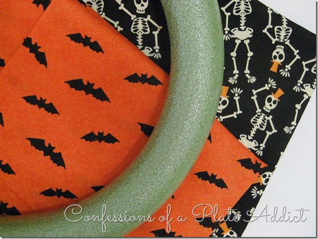 CONFESSIONS OF A PLATE ADDICT Easy Halloween Wreath...Just Tie It! supplies