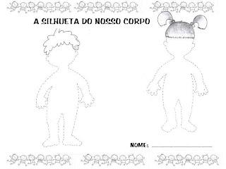atividade infantil sobre o corpo humano