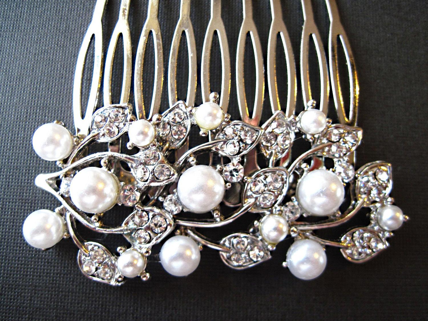 Wedding, Hair Comb, Ivory or