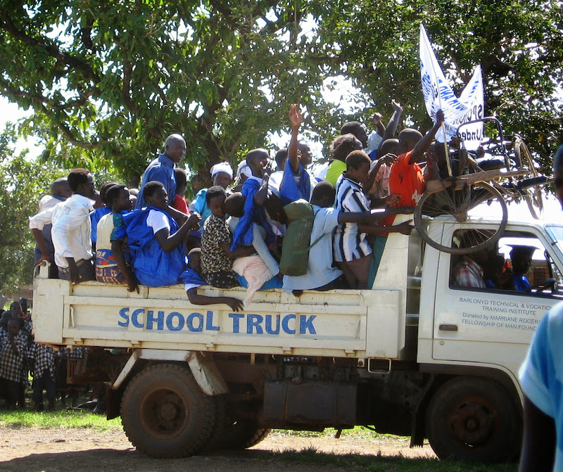 Barlonyo graduation   school truck brings more participants