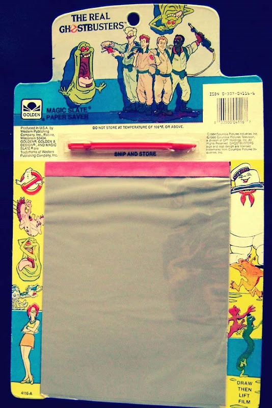 The Real Ghostbusters With Slimer Magic Slate Paper Saver