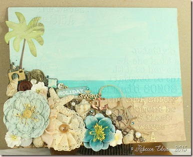 mixed media beach full