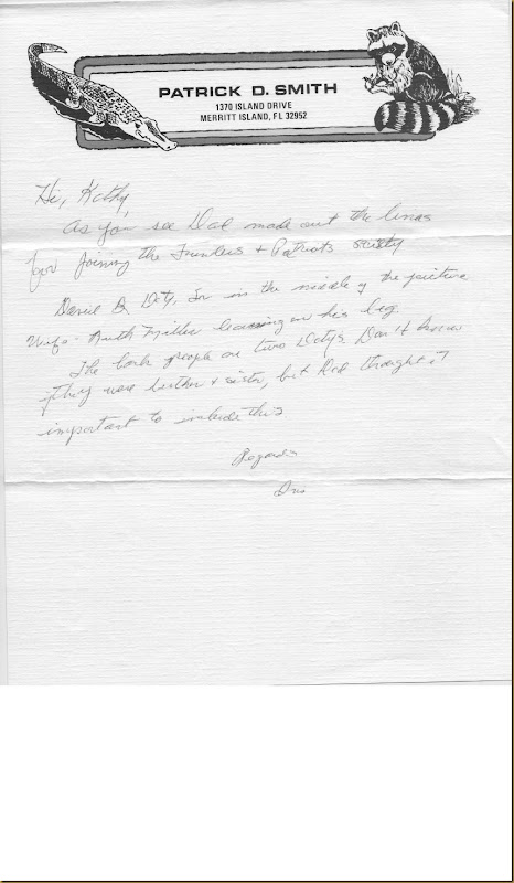 Patrick D. Smith letter regarding David B Doty genealogy_0001