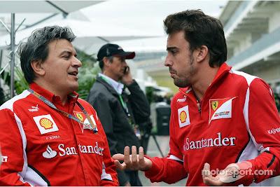 Фернандо Алонсо со своим персональным тренером Fabrizio Borra на Гран-при США 2012