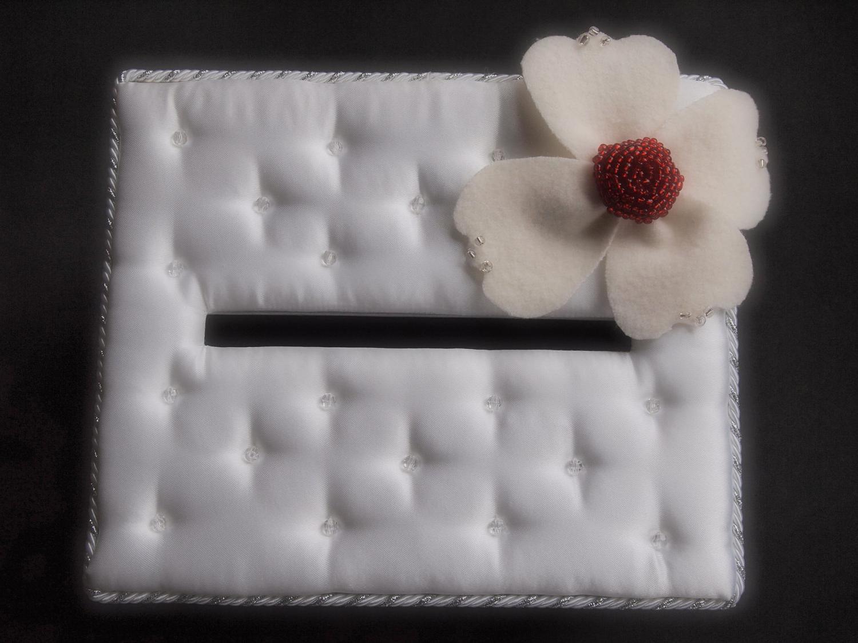 Gift Card Box Wedding Ivory Red Jasmine Flower White. From ArtisanFeltStudio