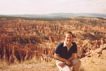 At Bryce Canyon, Utah, USA, 1985