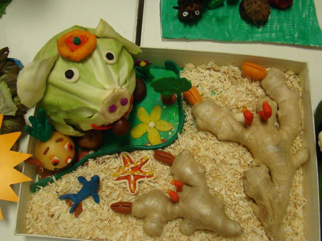 Поделки из овощей и фруктов для выставки 341