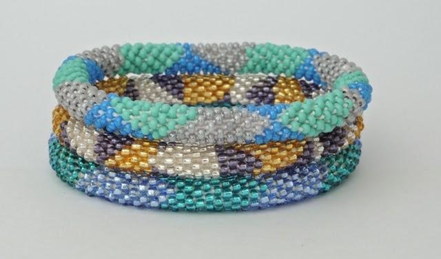 Assoted green base bracelets