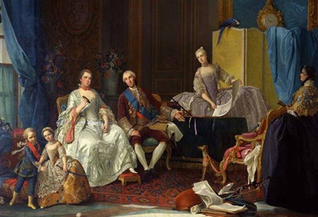 """Felipe I de Parma y su familia"""" por Giuseppe Baldrighi. Galería Nacional de Parma"""