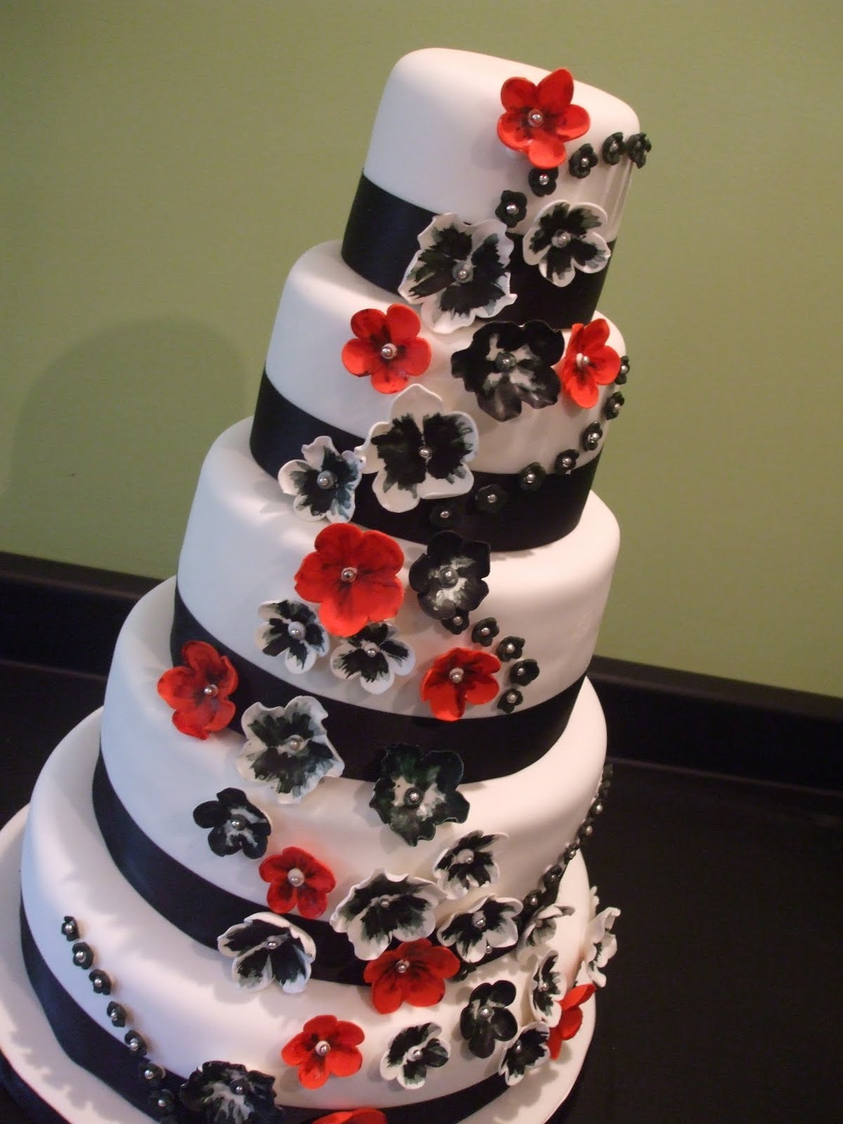 Sandrasimons blog black white red wedding