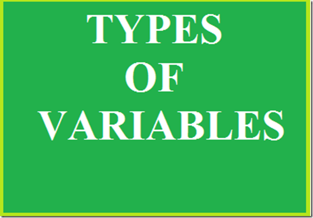 TYPES-OF-C-VARIABLES