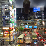 neon lights of shibuya in Shibuya, Tokyo, Japan