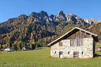 Passo di Cereda (1369m). Kurz vor dem Scheitel.
